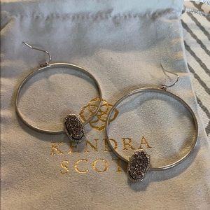 Kendra Scott silver hoop earrings